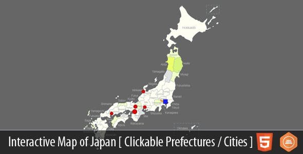 Map Of Japan With Prefectures.Interactive Map Of Japan Html5 By Art101 Codecanyon