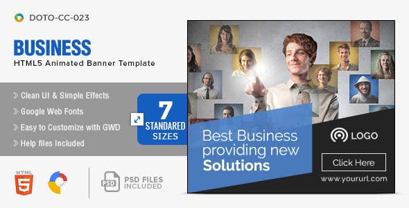 Html5 ad templates from codecanyon corporate html5 banners 7 sizes reheart Image collections