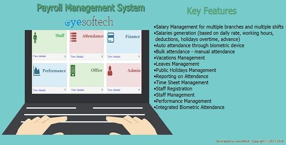 Biometric Payroll Management System v1 21 (ePayroll) by eyesoftech
