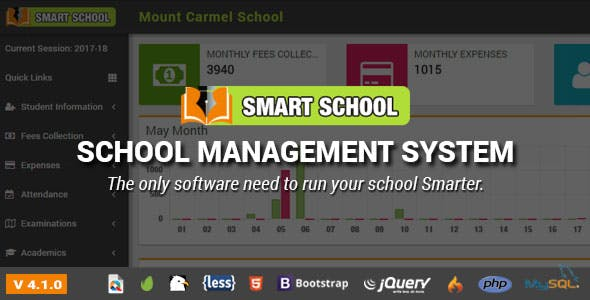 Smart School : School Management System by QDOCS | CodeCanyon