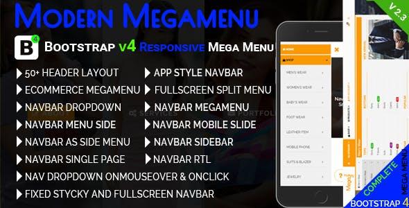bootstrap 4 mobile mega menu Free Download   Envato Nulled