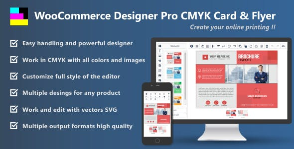 woocommerce designer pro cmyk card flyer by jmaplugins codecanyon