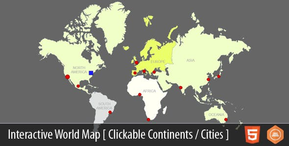 Cities Of The World Map.Interactive World Map With Cities By Art101 Codecanyon