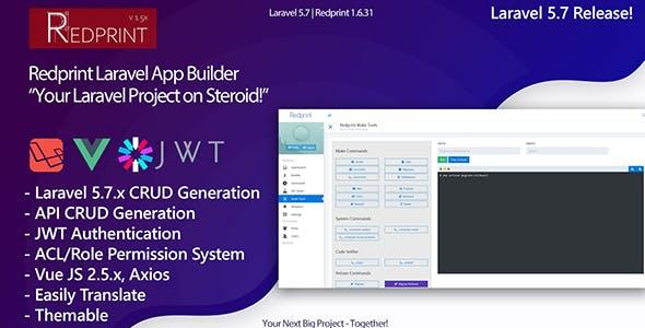 Redprint Laravel App Builder CRUD Generator Plus by intelle-hub