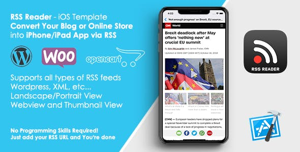 Rss Reader Template Convert Your Website Blog To Ios App By Appsvilla