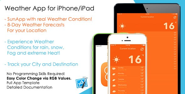 Sunapp Weather Forecast Ios App Template By Appsvilla Codecanyon