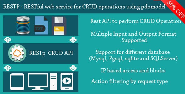 RESTp - RESTful web service for performing CRUD operations using