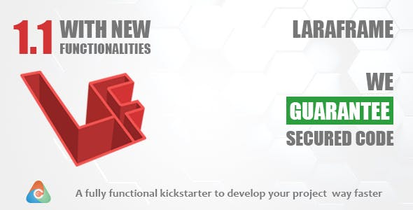 Laraframe - Laravel Kickstarter - CodeCanyon Item for Sale