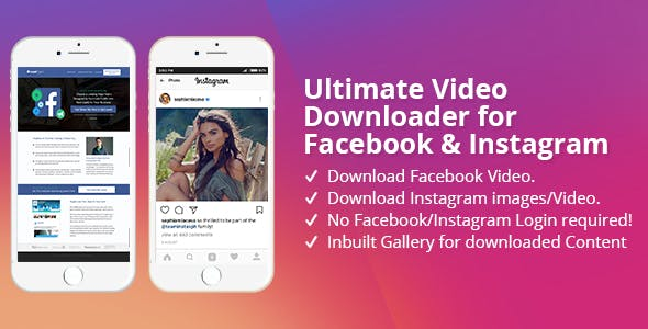 Facebook downloader Free Download | Envato Nulled Script