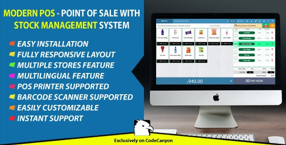 Modern POS - Point of Sale with Stock Management System by ITsolution-24