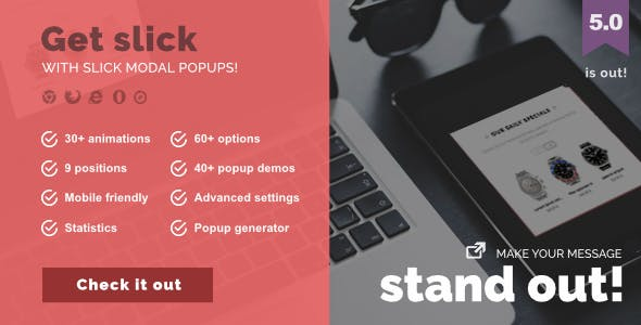 Slick Modal - CSS3 Powered Popups by Capelle | CodeCanyon