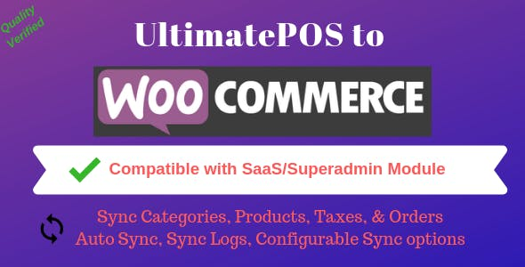 UltimatePOS to WooCommerce Addon (With SaaS compatible)