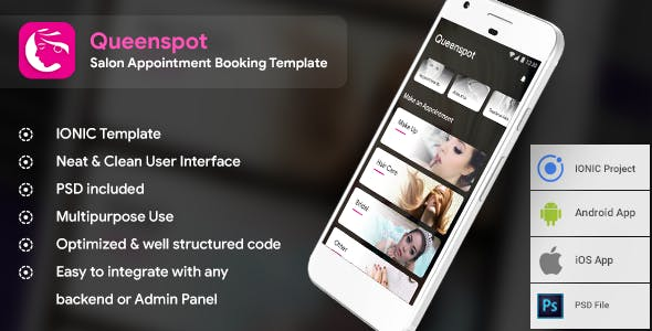 make a appointment app with mobile app templates from codecanyon