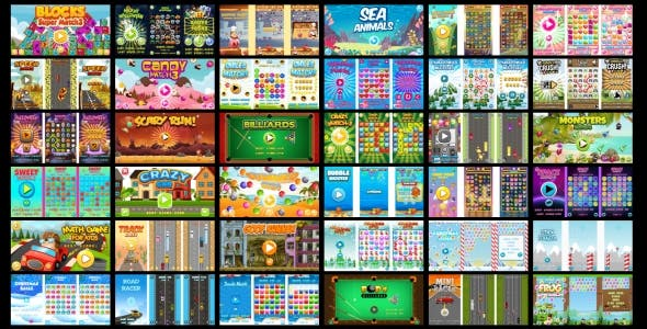 40 HTML5 GAMES IN 1 SUPER BUNDLE!!! (Construct 3 | Construct
