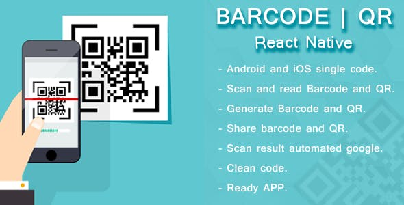 React native barcode and QR scanner and generator by