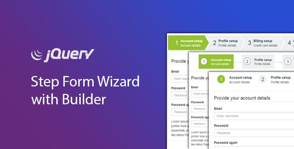 download jQuery Step Wizard with Step Form Builder - Timon