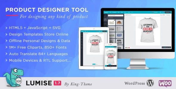 Lumise Product Designer   WooCommerce WordPress