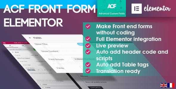 ACF Front Form for Elementor Page Builder by armediacgcom | CodeCanyon
