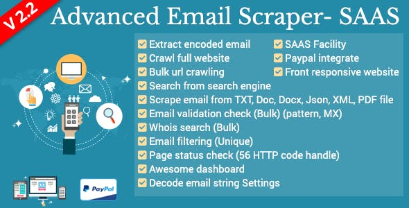 Advanced Email Scraper - SaaS Pack by xeroneitbd | CodeCanyon