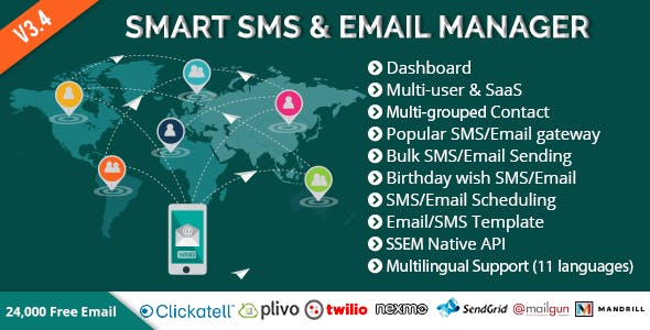 Smart SMS Email Manager SSEM By Xeroneitbd