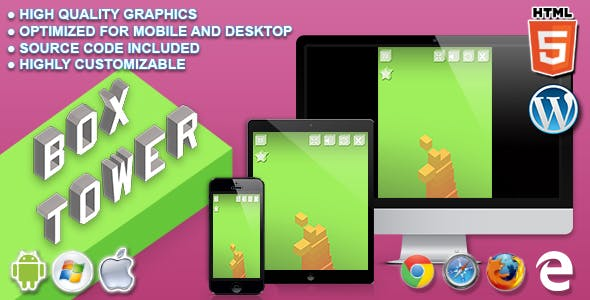 Box Tower - HTML5 Skill Game