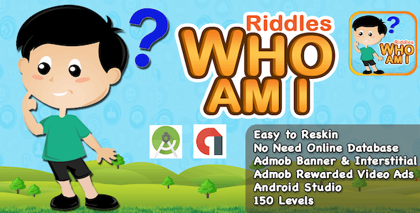 Riddle Who Am I + Best Kids Quiz App + Ready For Publish +