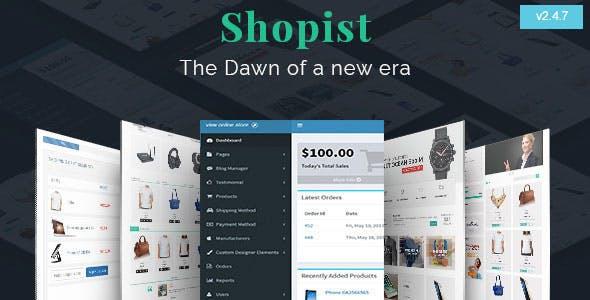 Shopist   Laravel Multivendor eCommerce, CMS and Designer
