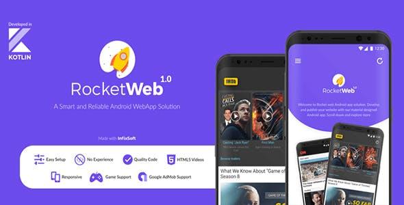 RocketWeb - Android web app solution   WebToApp   WebView