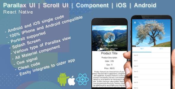 React native Parallax UI | Scroll view by Reactiveweb | CodeCanyon