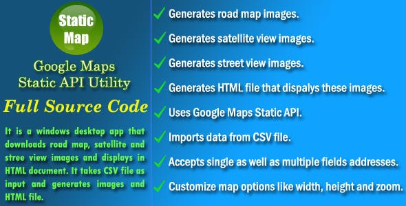 call google maps static api from desktop app Free Download | Envato on