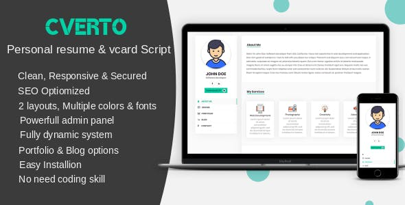 Resume Script Plugins Code Script From Codecanyon