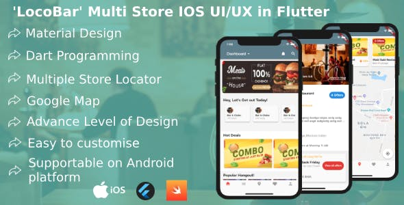 LocoBar' Multistore IOS App Templates in Flutter by Galaxy1344