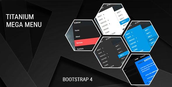 bootstrap 4 navbar drop down menu Free Download | Envato