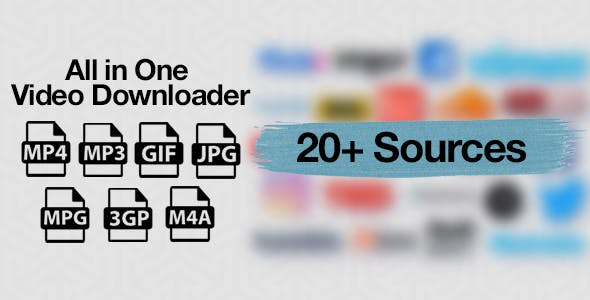 All in One Video Downloader - Youtube and more - CodeCanyon Item for Sale