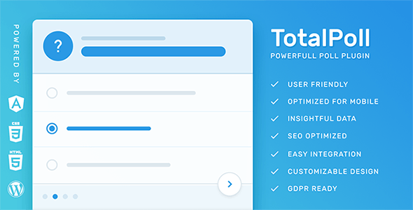 TotalPoll Pro - Responsive WordPress Poll Plugin by