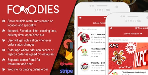 Restaurant Food Delivery & Ordering System With Delivery Boy - Android v1.0.6