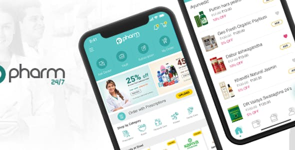 Online Medicine Booking App - Pharm24 - IONIC 3 Template