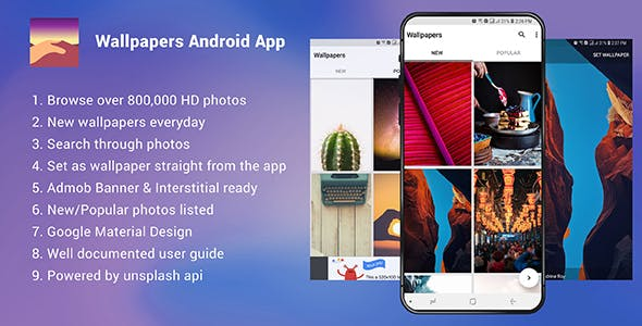 Wallpapers Android App - Admob Ready Nulled