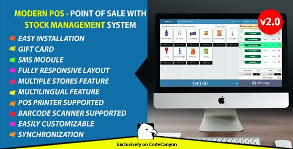 PHP Pos and Pos System PHP Scripts from CodeCanyon