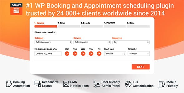 b7f234e71d Bookly PRO – Appointment Booking and Scheduling Software System -  CodeCanyon Item for Sale