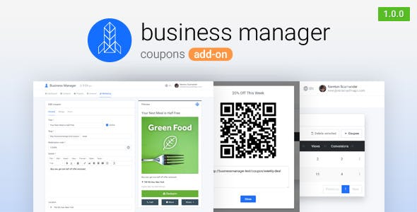 Coupons for Business Manager