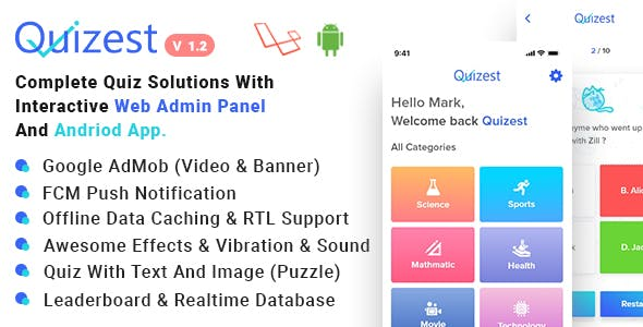 Quizest - Complete Quiz Solutions With Android App And