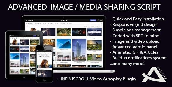 Avidi Media v3 - Premium Media Sharing Script (Photo, Video, Audio & Gifs)
