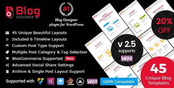 Blog Designer PRO for WordPress by solwin | CodeCanyon