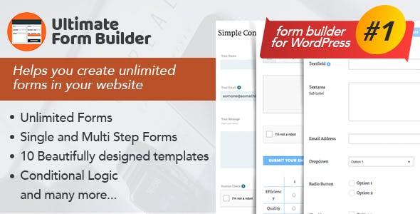 Ultimate Form Builder - #1 Form Builder For WordPress by