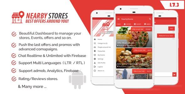 NearbyStores - Offers, Events & Chat Realtime + Firebase 1 7 by