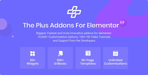 The Plus - Addon for Elementor Page Builder WordPress Plugin by POSIMYTH