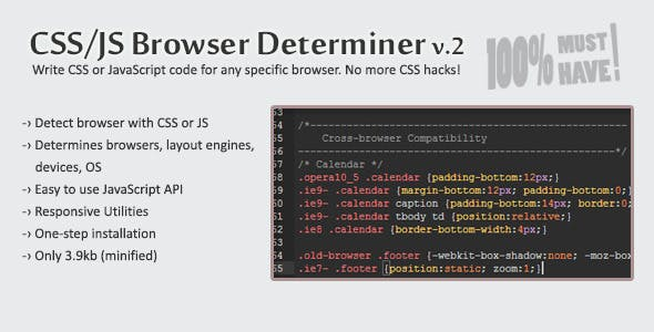 CSS/JS Browser Determiner by bit-labs | CodeCanyon