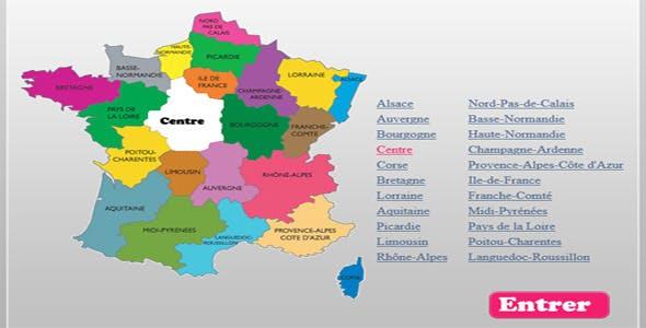 France Interactive Map By Trikiano Codecanyon