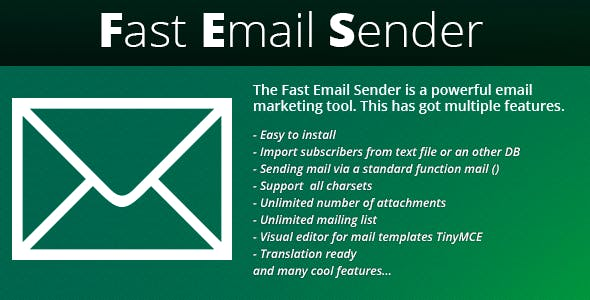 Script php mailer php scripts from codecanyon newsletter fast email sender maxwellsz